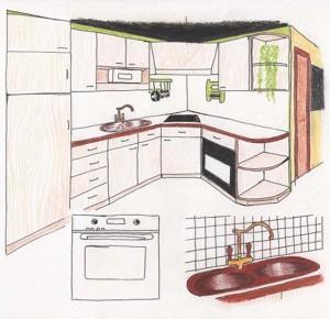 croquis-cuisine-crayons-de-couleurs