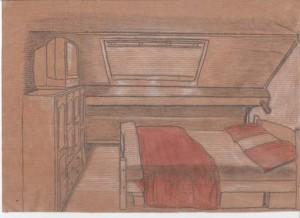 dessin-chambre-bois-chalet-pastels