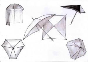 parapluies de formes particulières
