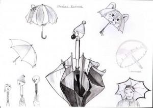 parapluies-enfants-croquis-graphite