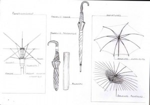 parapluies-structure-dessin-graphite
