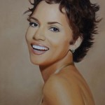 Halle Berry, Portrait aux Pastels