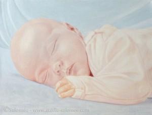 Peinture à l'huile : bébé