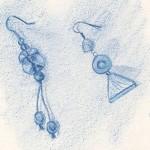Boucles d'oreilles au pastel