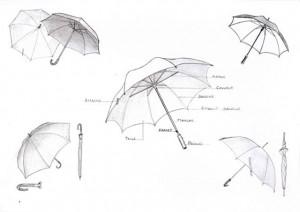étude-croquis-parapluies-graphite