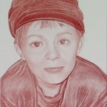 Portrait d'un Enfant réalisé à la Sanguine