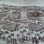 """Dessin de Le Nôtre de ses """"jardins à la française""""Tuileries, 18ème siècle"""