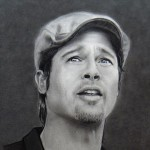 Brad Pitt au fusain