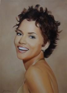 Halle Berry - portrait aux pastels - salomée