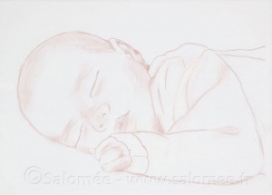 peinture à l'huile Kira : bébé