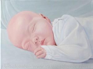 Peinture à l'huile : bébé : couche 5